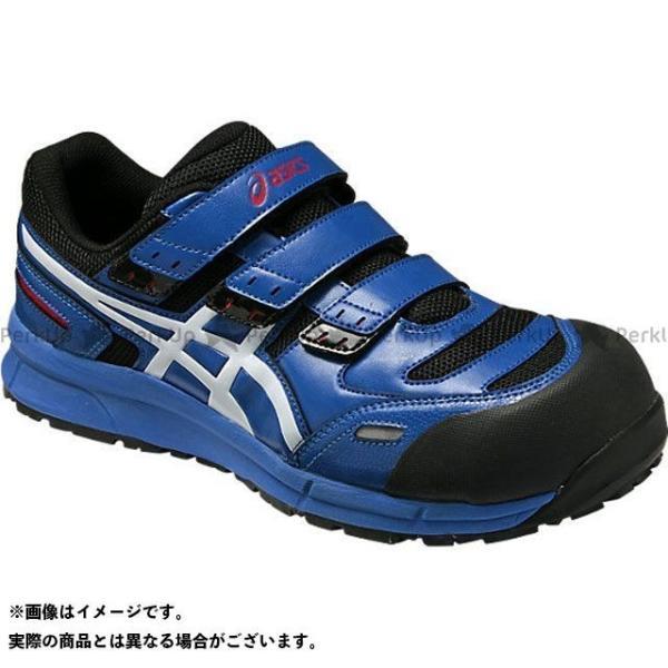 ASICS 安全靴 ウィンジョブ 半額 CP102 アシックス サイズ:23.0cm ホワイト カラー:ブルー トレンド