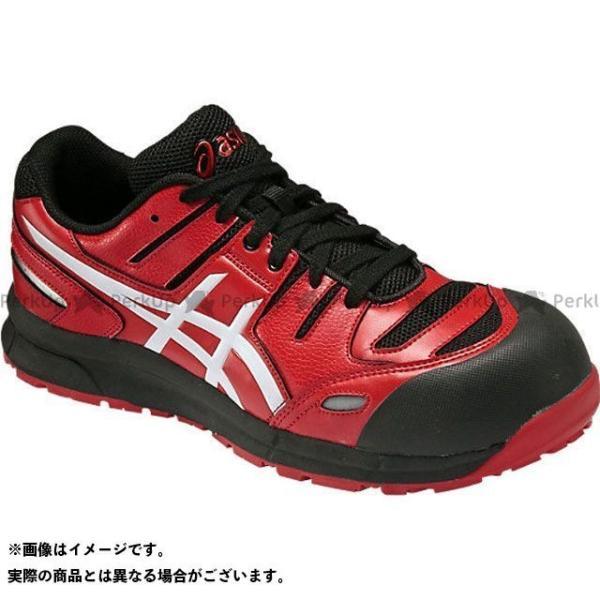 卓抜 ASICS 安全靴 ウィンジョブ セール特価 CP103 ホワイト カラー:レッド アシックス サイズ:24.5cm