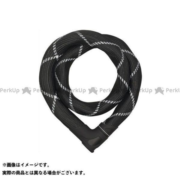 ABUS ラッピング無料 送料無料でお届けします Steel-O-Chain Iven 8210 ホワイト ブラック 長さ:110cm アブス