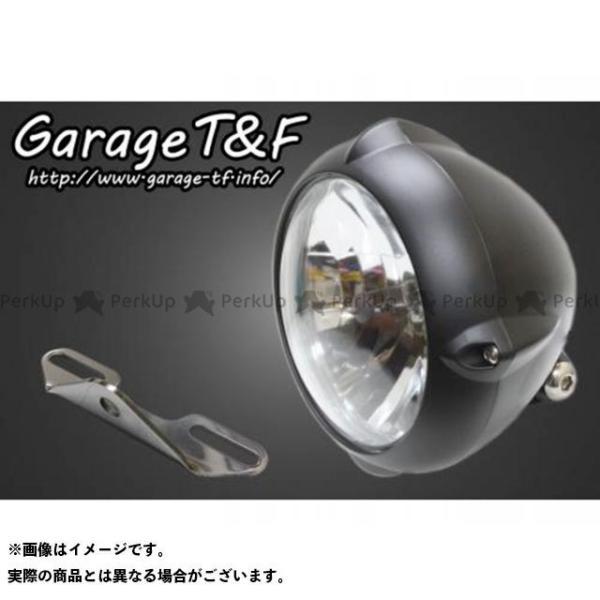 ガレージTamp;F ドラッグスタークラシック1100 DSC11 5.75インチビンテージライト ライトステー タイプB キット ガ… 2020A/W新作送料無料 信託 カラー:ブラック