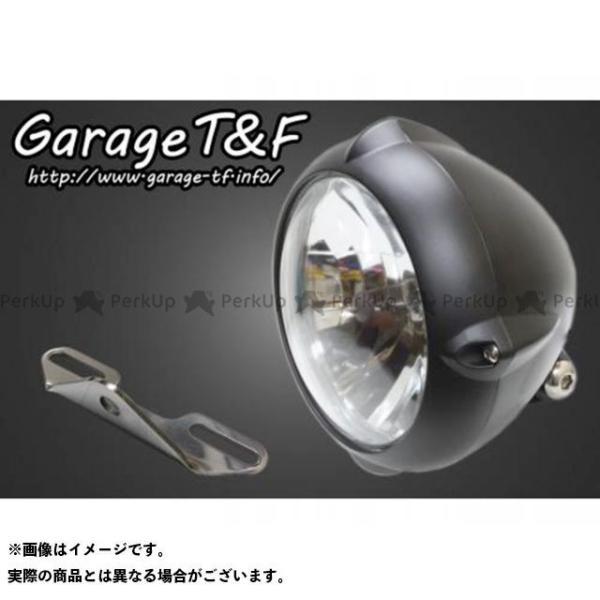 ガレージTamp;F ドラッグスタークラシック400 上品 DSC4 5.75インチビンテージライト 世界の人気ブランド ライトステー カラー:ブラック タイプB ガレー… キット
