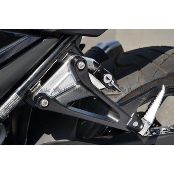 <title>アグラス 世界の人気ブランド GSX-S750 GSX250R ヘルメットホルダー アルミステー:ブラック ヘルメットロック:ブラック AGRAS</title>