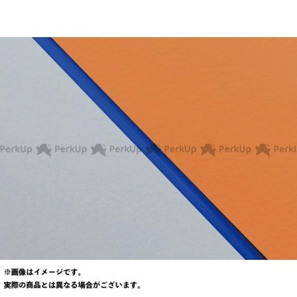 グロンドマン W650 99年 新作通販 EJ650A1 C1 国産シートカバー Gro… 張替 オレンジ ライン:グレーライン 日本製 仕様:青パイピング