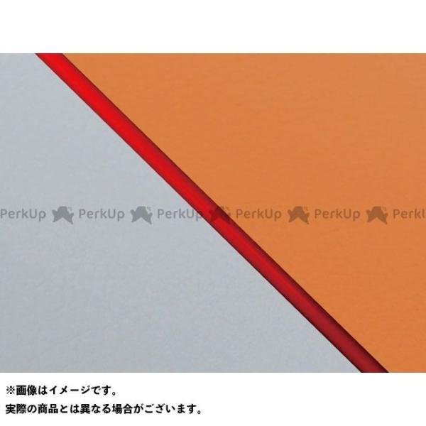 <title>グロンドマン W650 99年 EJ650A1 C1 国産シートカバー 張替 オレンジ ライン:グレーライン 仕様:赤パイピング お得 Gro…</title>