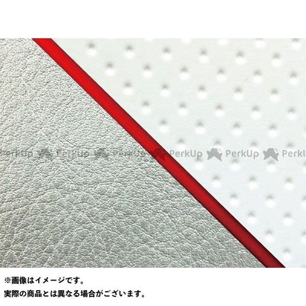 <title>グロンドマン W650 99年 男女兼用 EJ650A1 C1 国産シートカバー 張替 フルエンボスホワイト ライン:シルバーライン 仕様:赤パイ…</title>