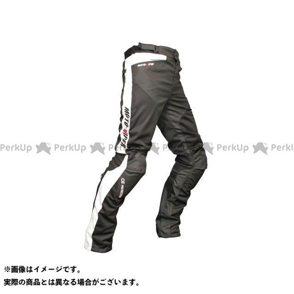 優先配送 moto-VIPER MV-22 GAL-NE メッシュパンツ ブラック カラー:ホワイト 情熱セール モトバイパー サイズ:M