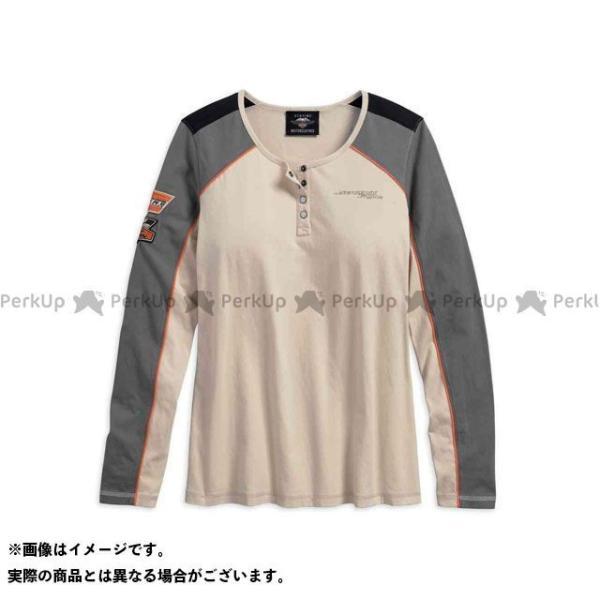 ハーレーダビッドソン LD'S TシャツL 高品質 S Seasonal Wrap入荷 Screamin' HARLEY-DAVIDSON サイズ:S Eagle Henley