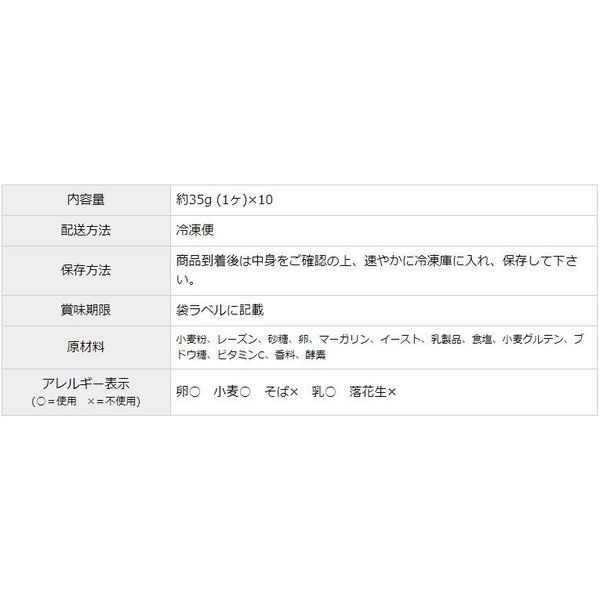 レーズンパン 35g x 10ヶ 冷凍パン生地|campagne|05