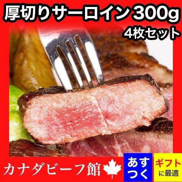 サーロインステーキ サーロイン ステーキ ステーキ肉 赤身 バーベキュー フライパン 熟成肉 ギフト 熟成・厚切りサーロインステーキ(約300g)×4枚セット