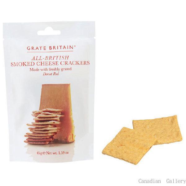 2袋 グレイトブリテン スモークチーズ クラッカー 45g メール便配送(ポスト投函)、代引不可