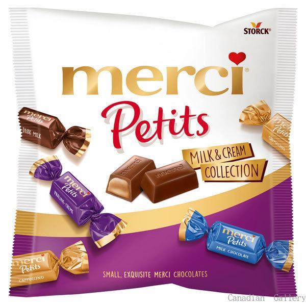 12袋 ストーク メルシープチミルク&クリームコレクション(チョコレート)125gミルク、ダークミルク、カプチーノ、プラリネクリームの4種類クール便配送の選…