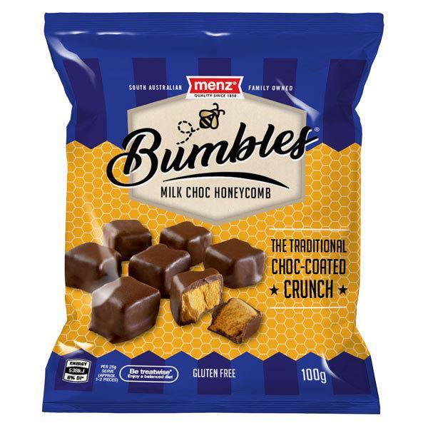24袋 メンツ ミルクチョコ ハニーコム(チョコレート) 100gクール便配送の選択可能