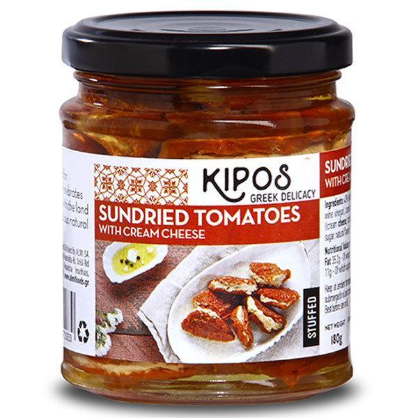 【3瓶】キポス サンドライトマト クリームチーズ入り 180g(固形量110g) オイル漬け洋食材  沖縄は一部送料負担あり