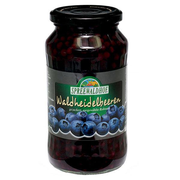 12個 シュプレーヴァルトフ ワイルド ブルーベリー シロップ漬け 540g(固形量:205g)