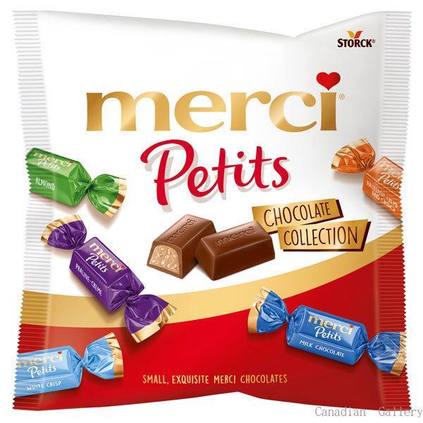 6袋 ストーク メルシープチチョコレート コレクション 125gミルク、ダークミルク、カプチーノ、プラリネクリーム、ホワイトクリスプ、アーモンド、ヘーゼル…