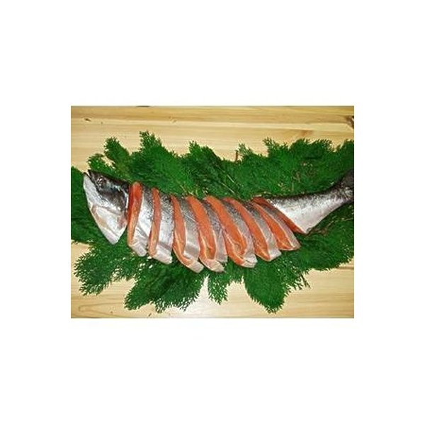 キングサーモンの塩鮭 尾頭付き 2kg カナダ土産 めちゃうま最高の一品! このボリューム 激安 カナダ産 お歳暮