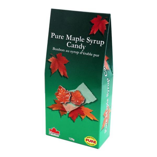 メープルキャンディー120g 個包装 カナダ土産 人気 定番 カエデ型 飴 グルメカナディアーナ メープル シロップ 95%使用 旅行 ギフト