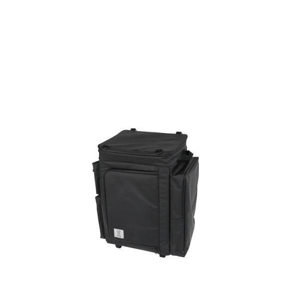 冷蔵庫形状で食材が一目瞭然 キャスター付きクーラーボックス ブラック CL1-653-BK|cancamp|02