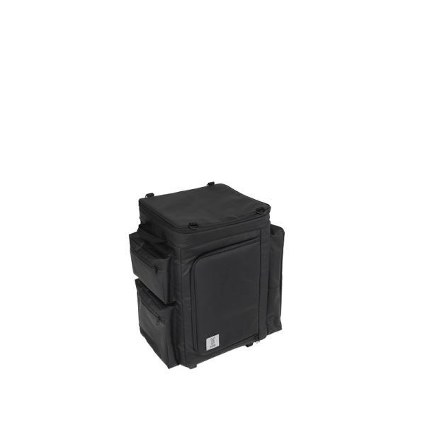 冷蔵庫形状で食材が一目瞭然 キャスター付きクーラーボックス ブラック CL1-653-BK|cancamp|03