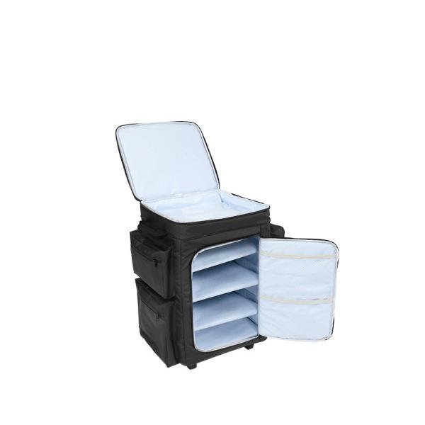 冷蔵庫形状で食材が一目瞭然 キャスター付きクーラーボックス ブラック CL1-653-BK|cancamp|04