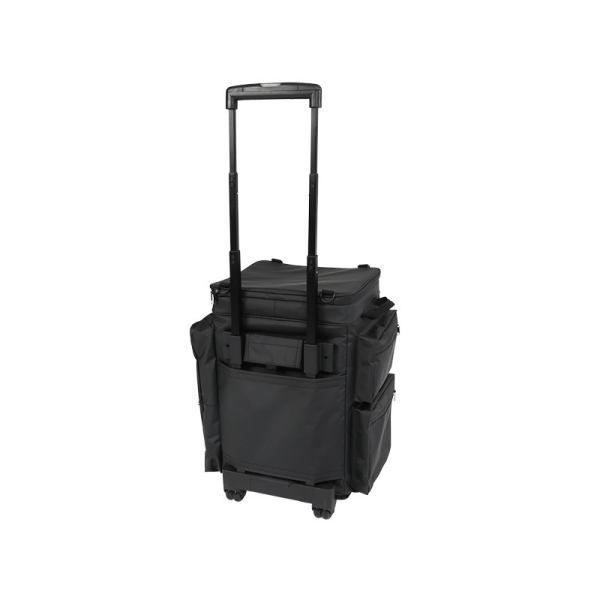 冷蔵庫形状で食材が一目瞭然 キャスター付きクーラーボックス ブラック CL1-653-BK|cancamp|05