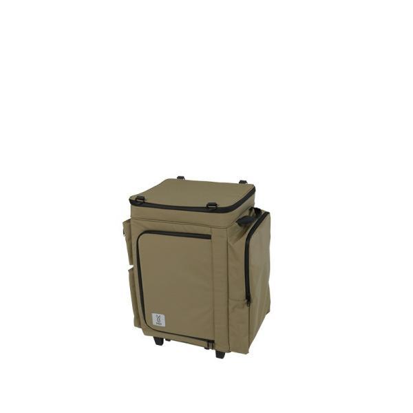 冷蔵庫形状で食材が一目瞭然 キャスター付きクーラーボックス タン CL1-653-TN|cancamp|02