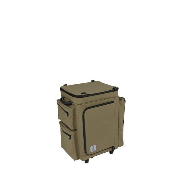 冷蔵庫形状で食材が一目瞭然 キャスター付きクーラーボックス タン CL1-653-TN|cancamp|03