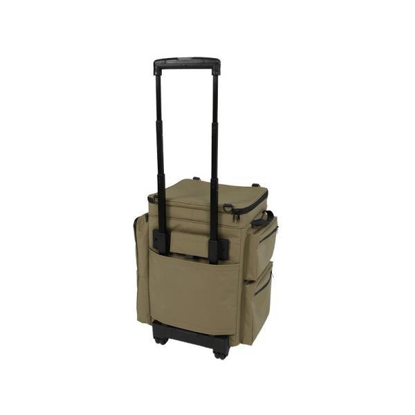 冷蔵庫形状で食材が一目瞭然 キャスター付きクーラーボックス タン CL1-653-TN|cancamp|05