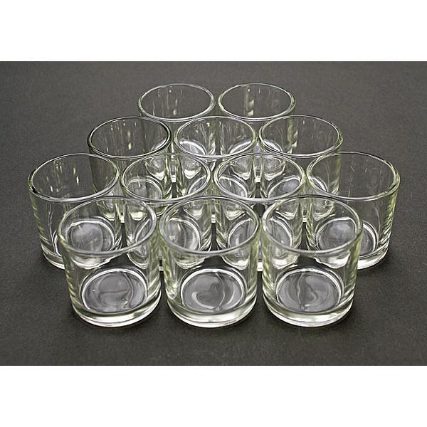 キャンドル用ガラスコップ 12個セット【ジェルキャンドル ゼリーキャンドル キャンドルグラス】 candle21