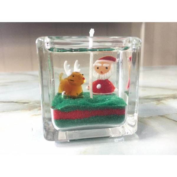 ジェルキャンドル ガラス細工 クリスマスツリーA クリスマス|candle21|02
