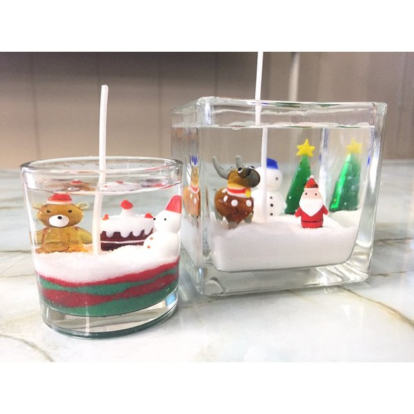 ジェルキャンドル ガラス細工 クリスマスツリーA クリスマス|candle21|03