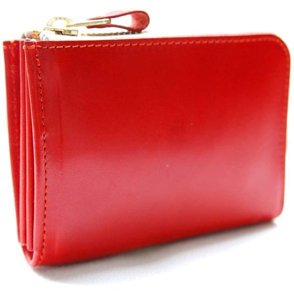 [日本製栃木レザー]使い方自由自在シンメトリーミニ財布メンズ本革L字ファスナーコンパクト財布小さい財布レディース薄型マルチケー