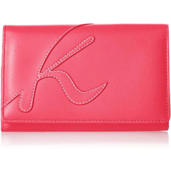 キタムラ 二折財布中身の量に合わせて調整できるダブルホックタイプZH0341ローズ 赤 74741