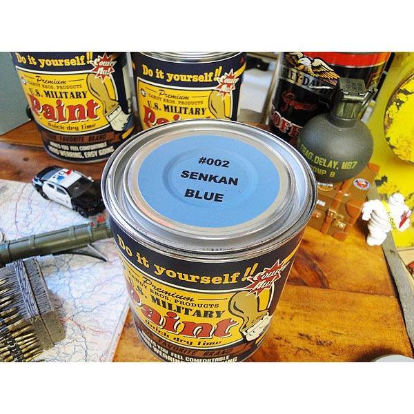 戦艦色に塗れちゃうペンキ ミリタリーペイント(戦艦ブルー) アメリカ雑貨 アメリカン雑貨 ブルーグレー DIY 工具 文具 塗料 塗装用品 ペンキ 塗料 人気|candytower|02