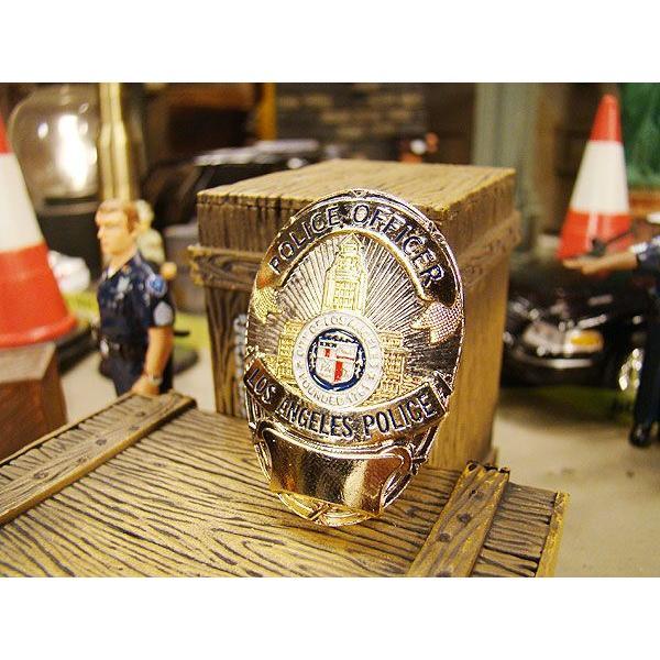 アメリカンポリスのメタルバッジ(ロサンゼルス市警/LAPD) アメリカ雑貨 アメリカン雑貨|candytower