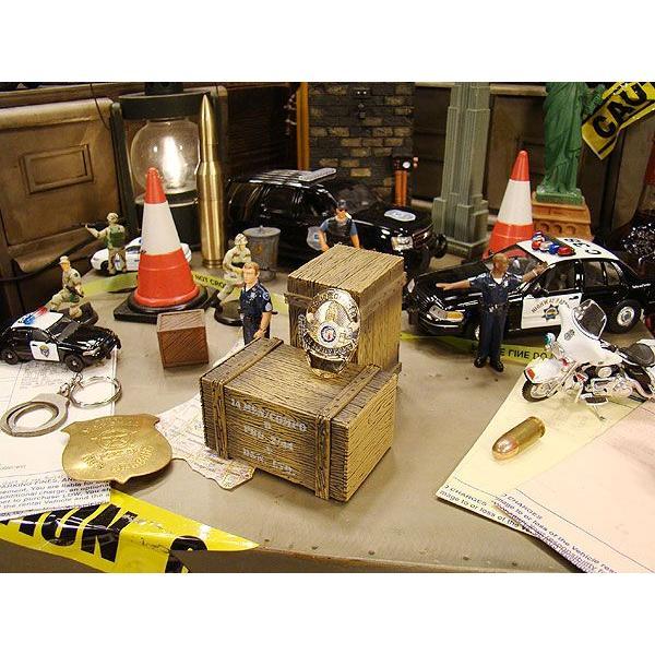 アメリカンポリスのメタルバッジ(ロサンゼルス市警/LAPD) アメリカ雑貨 アメリカン雑貨|candytower|04