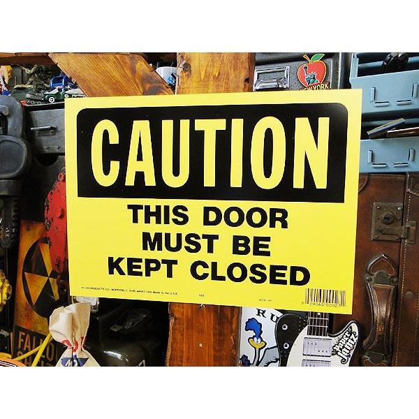 アメリカのプラスチックサインボード ヘビーオンスタイプ(このドアは必ず閉めて下さい) アメリカ雑貨 アメリカン雑貨 おしゃれ おもしろ 人気|candytower