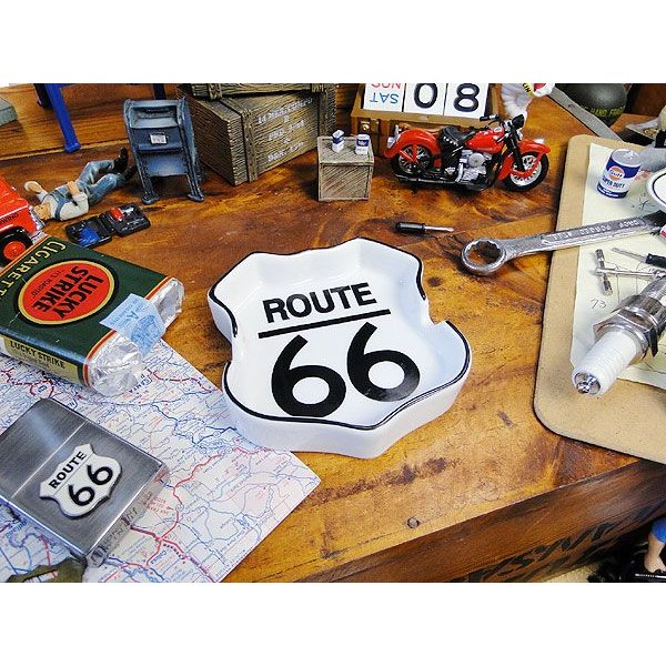 ルート66のロードサイン型アシュトレイ アメリカ雑貨 アメリカン雑貨 おしゃれ candytower 03