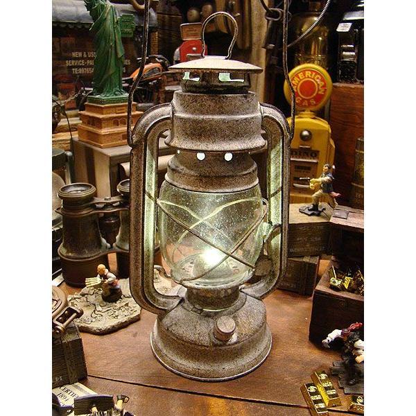 古めかしいアンティークランタン風のテーブルライト(LEDライト仕様/ACアダプター付属) Lサイズ/ホワイト アメリカン雑貨 アメリカ雑貨|candytower