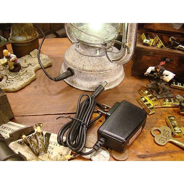 古めかしいアンティークランタン風のテーブルライト(LEDライト仕様/ACアダプター付属) Lサイズ/ホワイト アメリカン雑貨 アメリカ雑貨|candytower|05