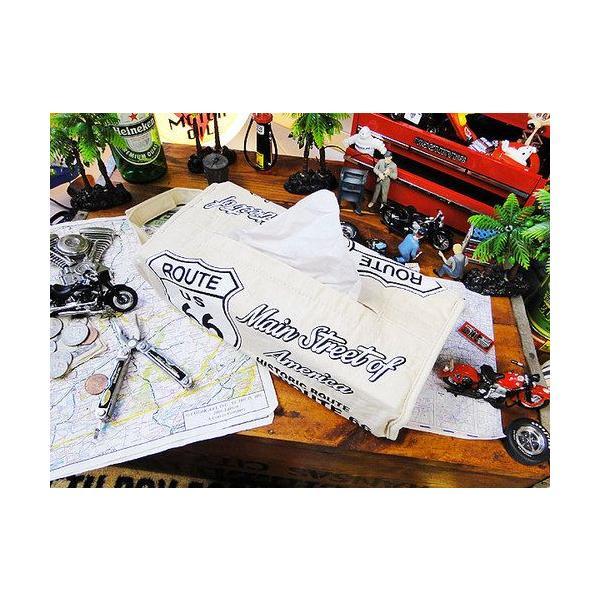 ルート66のティッシュカバー(アイボリー) アメリカン雑貨 アメリカ雑貨 candytower 02