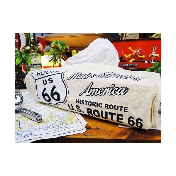 ルート66のティッシュカバー(アイボリー) アメリカン雑貨 アメリカ雑貨 candytower 03