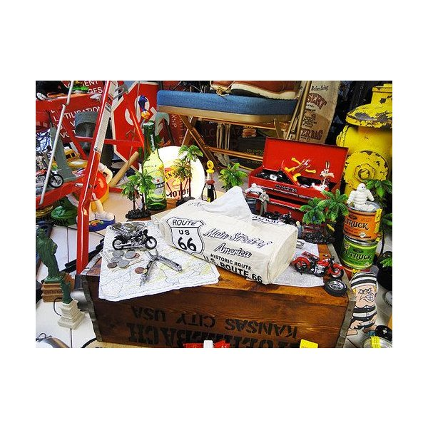 ルート66のティッシュカバー(アイボリー) アメリカン雑貨 アメリカ雑貨 candytower 06