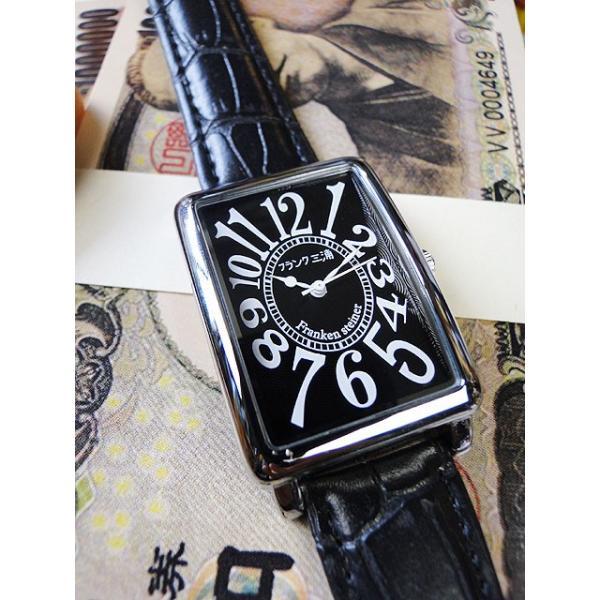 天才時計師フランク三浦の腕時計 初号機(改)通常サイズ(ハイパーブラック) アメリカ雑貨|candytower|03