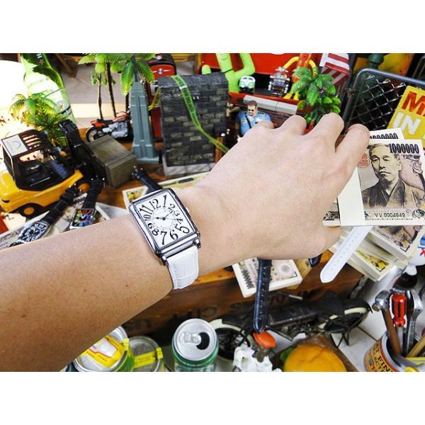 天才時計師フランク三浦の腕時計 初号機(改)通常サイズ(ハイパーホワイト) アメリカ雑貨|candytower|03