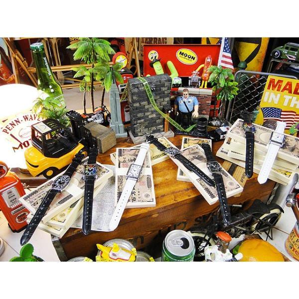 天才時計師フランク三浦の腕時計 初号機(改)通常サイズ(ハイパーホワイト) アメリカ雑貨|candytower|05