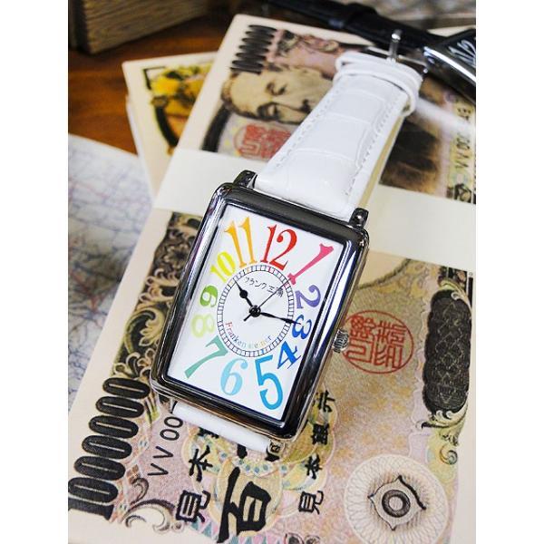 天才時計師フランク三浦の腕時計 初号機(改)通常サイズ(レインボーホワイト) アメリカ雑貨 candytower