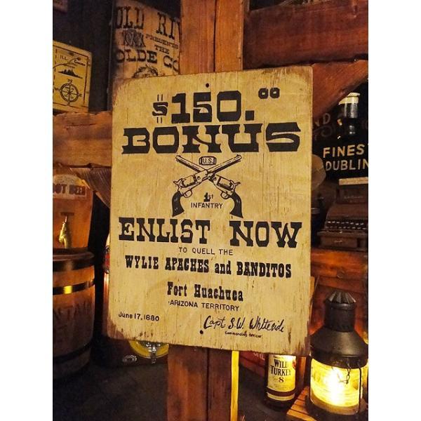 西部のお尋ね者ポスターの木製看板(ウイリー・アパッチ) アメリカ雑貨 アメリカン雑貨