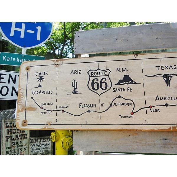 ルート66マップの木製看板 アメリカ雑貨 アメリカン雑貨|candytower|02