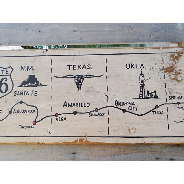 ルート66マップの木製看板 アメリカ雑貨 アメリカン雑貨|candytower|03